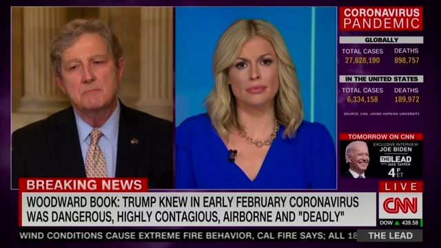 """Sen. Kennedy (R-LA) on Trump saying he downplayed COVID in taped interview: """"Gotcha books don't really interest me..."""""""