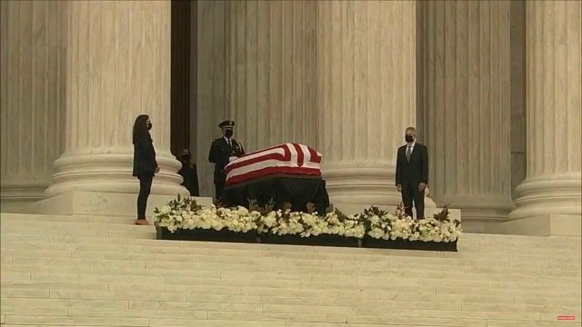 """Trump is met with boos and chants of """"honor her wish"""" as he pays respects to Justice Ginsburg at SCOTUS."""