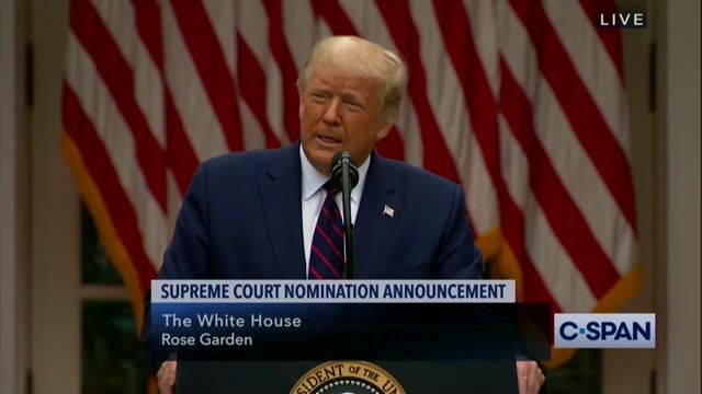 Trump officially unveils his Supreme Court nominee: It's Amy Coney Barrett.