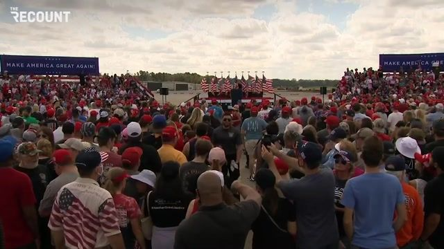 The Trump rally in North Carolina appears, like all the other Trump rallies, to not be following CDC guidelines.