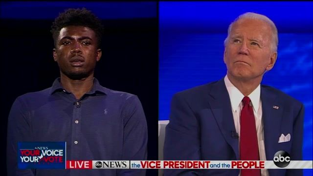 """Biden is asked """"besides 'you ain't Black,' what do you have to say to young Black voters?"""""""