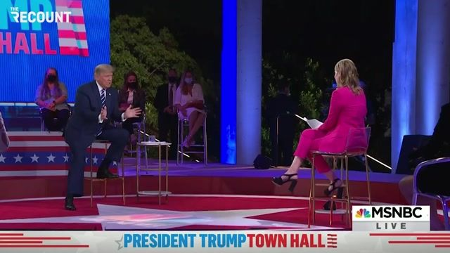 """After talking over moderator Savannah Guthrie, ignoring questions about Qanon, Trump says """"So cute."""""""