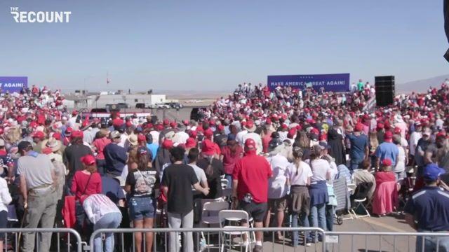 Social distancing at Trump's Arizona rally today? Not great!