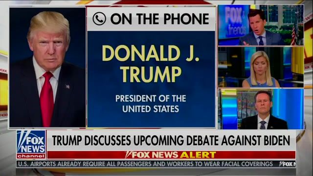 "Trump on interruptions at debate: ""There are a lot of people that say let [Biden] talk, because he loses his train ..."""