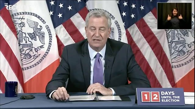 Mayor de Blasio announces NYC, Portland & Seattle will file a suit today against Trump's efforts to cut federal funds.