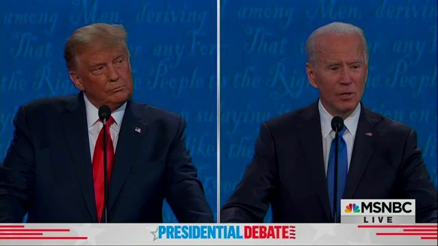 """Biden: """"I have released all of my tax returns ... you have not released a single solitary year ... What are you hiding?"""""""