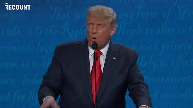 It appears Trump's mic was cut as he was speaking about health care.