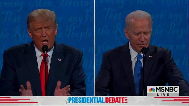 "Trump tells Biden ""I ran because of you. I ran because of Barack Obama."""