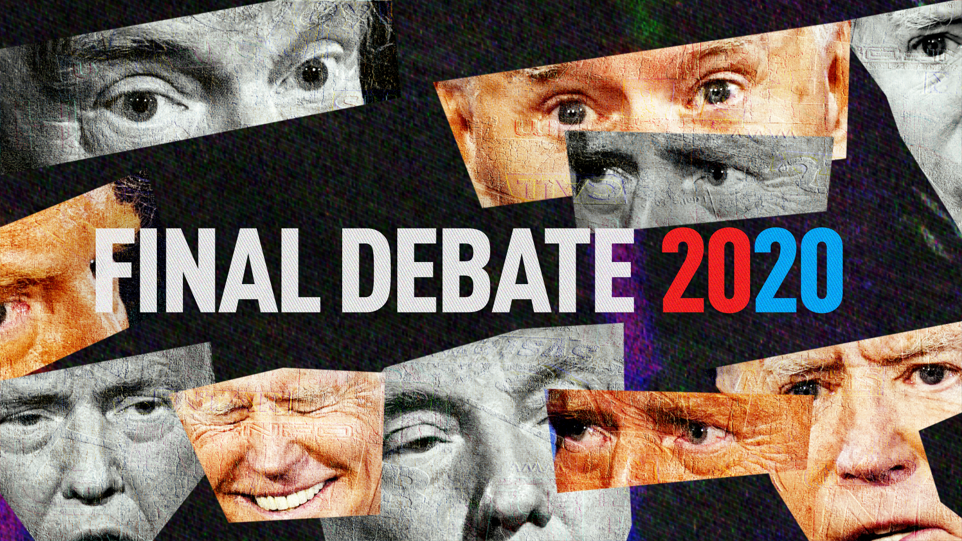 Muted, Candidate's Faces Get Loud