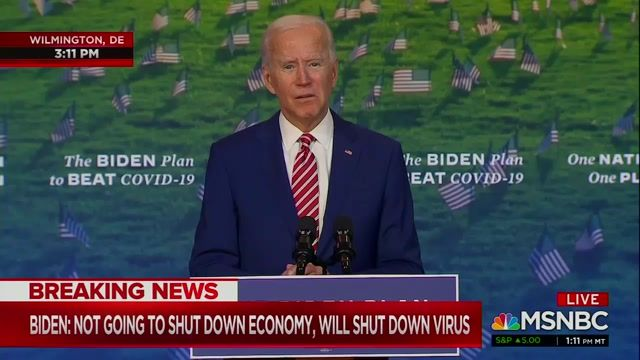 "Biden speaks the day after the final debate: ""Yes, Mr. President, I'll listen to the scientists and I'll empower them."""