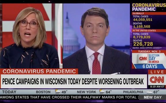 """Trump Press Sec. Gidley on WI rally despite hospitals nearing capacity: """"The VP has the best doctors in the world ..."""""""