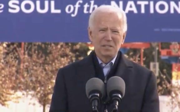 "Biden makes emotional pitch for IA Dem nominee Theresa Greenfield: ""... we both found our way back from broken places."""
