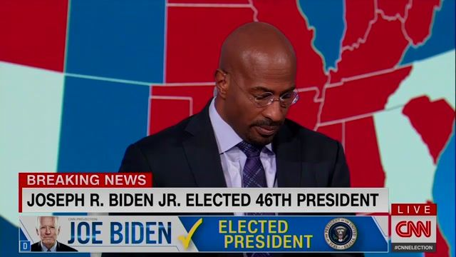 "An emotional Van Jones after the call for Biden: ""It's easier to tell your kids character matters. It matters."""