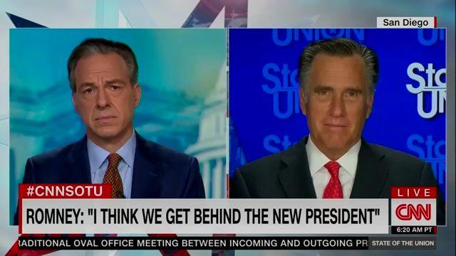 "Sen. Mitt Romney (R) Utah won't say whether he voted for Joe Biden: ""That's in the rearview mirror."""