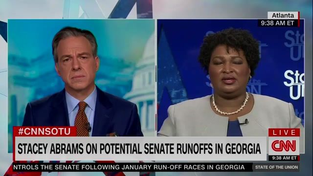 """Stacey Abrams on Senate runoffs in Georgia: """"I want to push back on this anachronistic notion that we can't win in GA."""""""