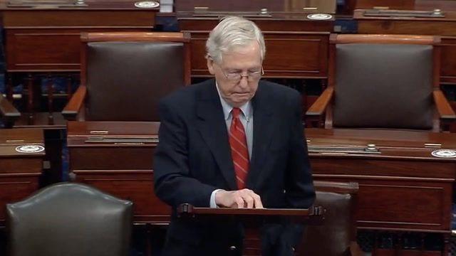 """McConnell on election: """"Let's not have any lectures…about how the pres. should immediately, cheerfully accept"""" results."""