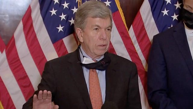 """Sen. Blunt (R-MO): """"The president...may not have been defeated at all."""" (Note: Joe Biden is, in fact, President-elect.)"""