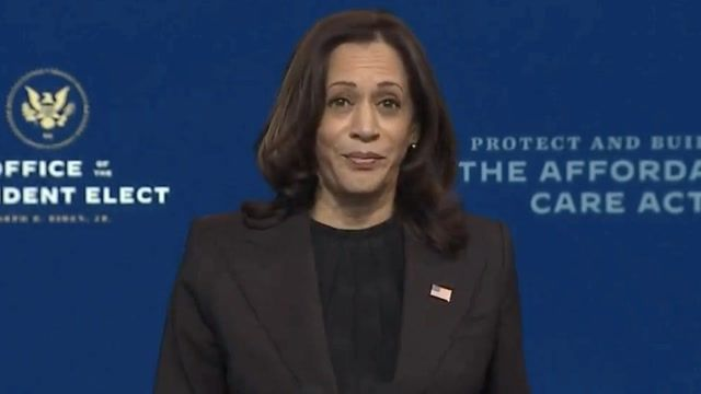 """VP-elect Harris: """"Joe Biden won the election decisively, with more votes than have ever been cast in American history."""""""