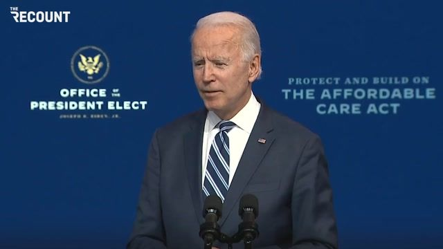 """President-elect Biden: """"The fact that they're not willing to acknowledge we won ... is not of much consequence ..."""""""
