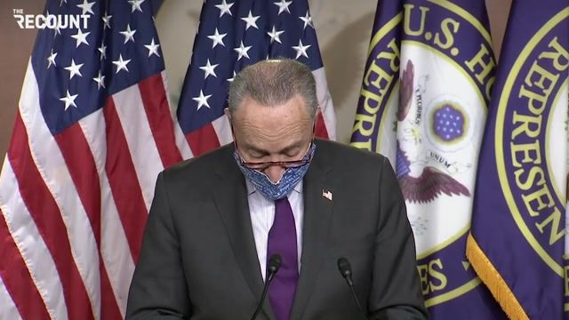 """Sen. Schumer to Senate GOP: """"The election is over. It wasn't close...Stop denying reality...start focusing on COVID."""""""