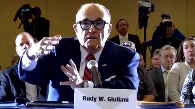 "Rudy Giuliani at election hearing: ""I know crooks really well. You give em an inch and they take a mile."""