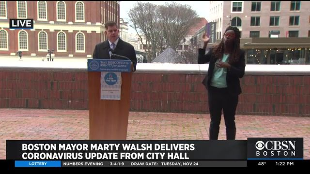"""Boston Mayor Walsh: City has """"no intention"""" of closing restaurants as long as daily COVID cases continue to decline."""