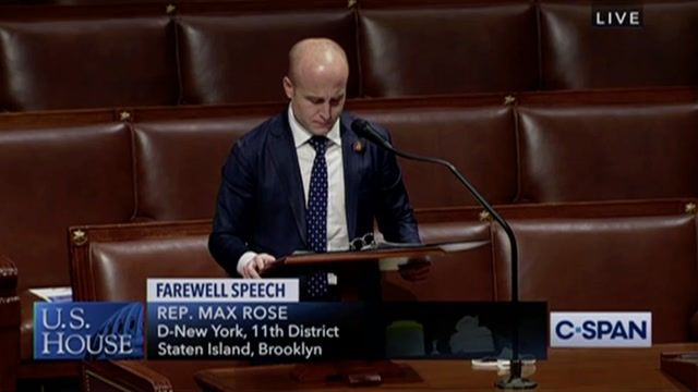 """In farewell address after losing re-election, Rep. Rose (D-NY) says he'll """"be on the frontlines"""" of his city and country"""