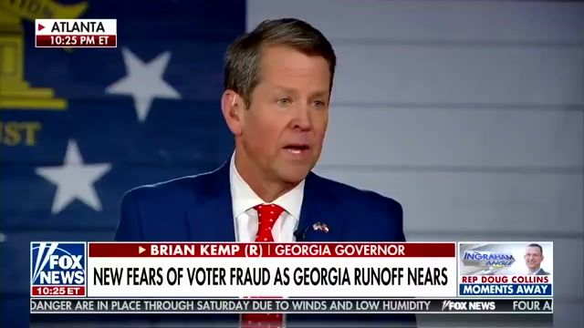"""On Trump's anger toward him over the election, Gov. Kemp (R-GA) says he's supported him """"any way that I legally could."""""""